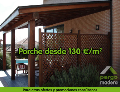 Pergomadera ofertas promociones casetas de madera casetas de jardin madrid - Casetas de madera madrid ...